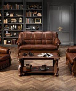 Canapea cu piele 3 locuri Parma