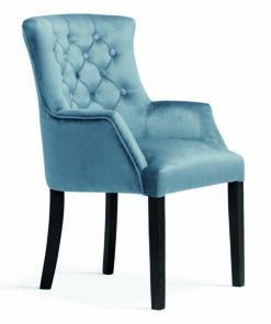 Scaun tapițat ALBERT albastru