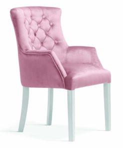 Scaun tapițat ALBERT roz