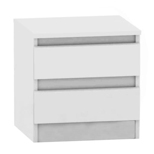 Noptieră HANY – cu 2 sertare – alba