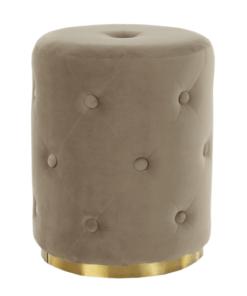 Taburet catifea cappuccino/auriu BEKEN