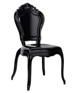 Scaun policarbonat negru KING