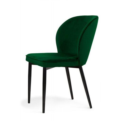 Scaun tapitat Aine verde/negru h87 cm