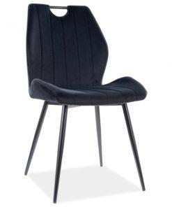 Scaun Arco Velvet Negru / Negru