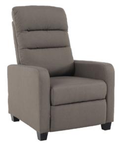 Fotoliu recliner tapitat Turner maro - H106cm