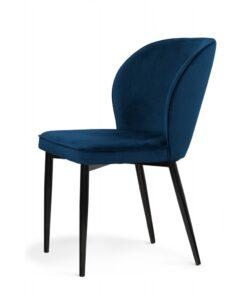 Scaun tapitat Aine albastru/negru h87 cm