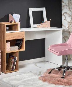 Masa de birou Conti alb