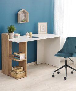 Masa de birou Fino alb