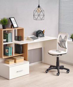 Masa de birou Grosso alb – H50 cm