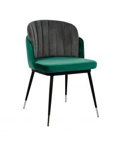 Scaun Marcel Velvet verde/gri