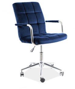 Scaun de birou Q-022 Velvet albastru
