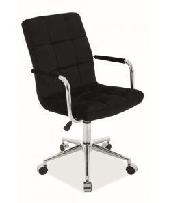 Scaun de birou Q-022 Velvet negru