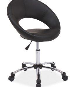 Scaun de birou Q-128 piele ecologica negru