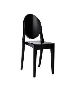 Scaun policarbonat negru Victoria