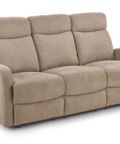 Canapea recliner tapitata Oslo 3S Bej
