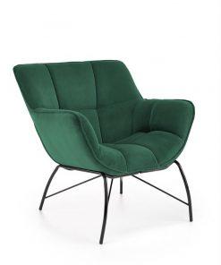Fotoliu tapitat Belton velvet verde