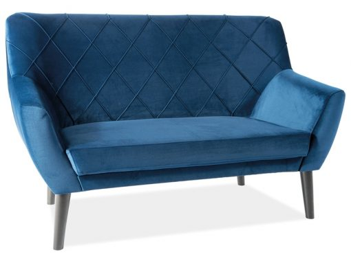 Canapea catifea Kier Albastru