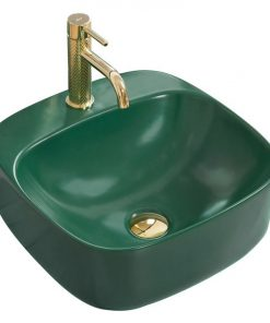 Lavoar Luiza Mini verde mat ceramica sanitara