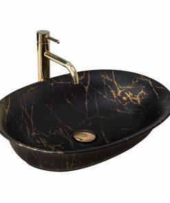 Lavoar Roma Negru Marble mat ceramica sanitara