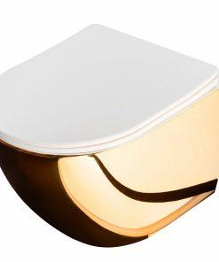 Vas wc Carlo Mini Gold suspendat cu capac slim softclose