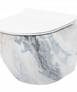 Vas wc Carlos Rimless granit suspendat capac softclose
