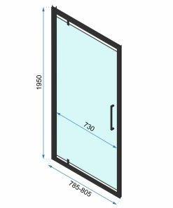 Ușă pentru dus Rapid Swing sticla securizata