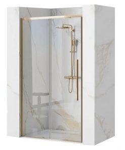 Ușă pentru dus Solar sticla securizata gold