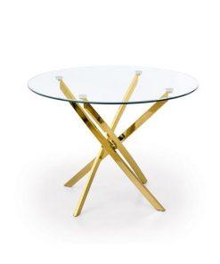 Masa rotunda sticla Raymond gold