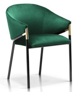 Scaun tapitat Fancy verde