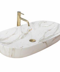 Lavoar Cleo Alb Shiny Aiax ceramica sanitara