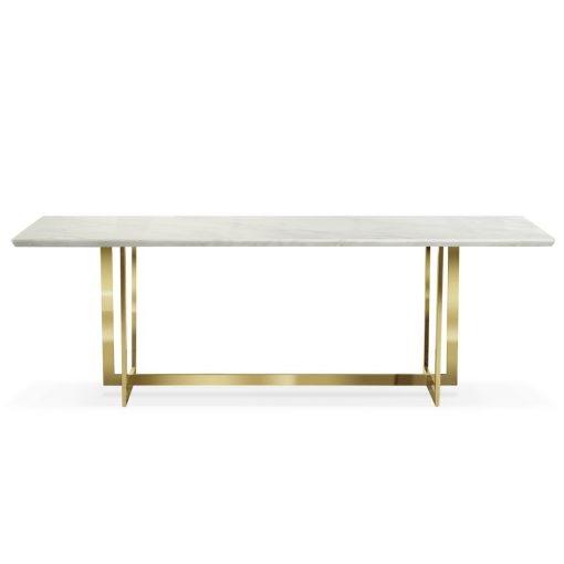 Masa Marble alb/gold