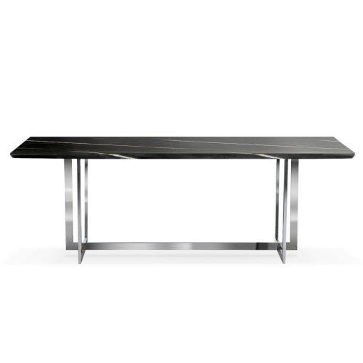 Masa Marble negru/silver