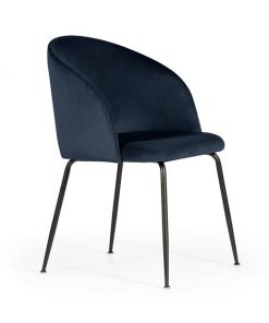 Scaun Susan albastru/negru