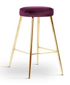 Scaun de bar Circo burgundy picioare gold