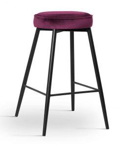 Scaun de bar Circo burgundy picioare negru
