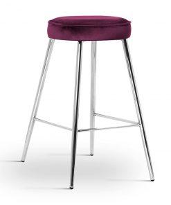 Scaun de bar Circo burgundy picioare silver
