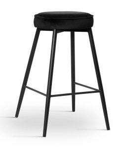 Scaun de bar Circo negru picioare negru
