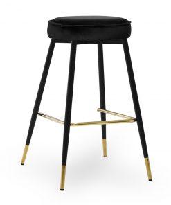 Scaun de bar Circo negru picioare negru/gold